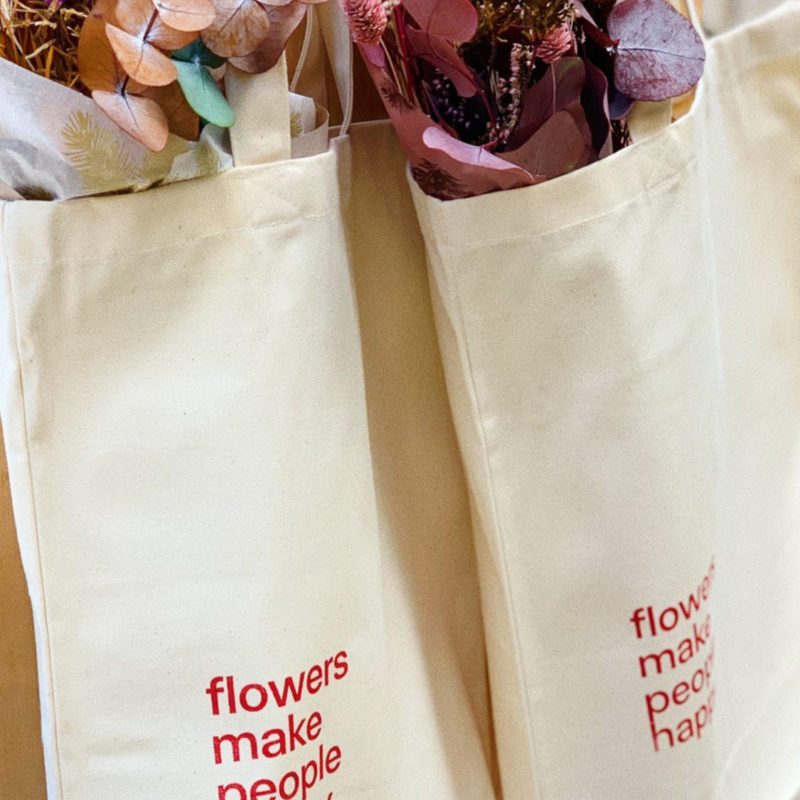 tote bag simply flowers